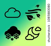 vector icon set about weather... | Shutterstock .eps vector #1085883080