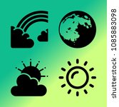 vector icon set about weather... | Shutterstock .eps vector #1085883098