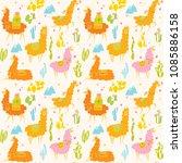 cute vector seamless pattern... | Shutterstock .eps vector #1085886158