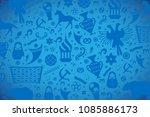 russian pattern wallpaper... | Shutterstock .eps vector #1085886173
