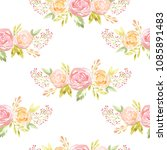 seamless pattern with hand...   Shutterstock . vector #1085891483