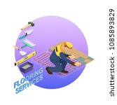 home repair isometric template. ... | Shutterstock .eps vector #1085893829
