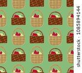 seamless pattern of picnic...   Shutterstock .eps vector #1085894144