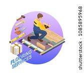 house repair isometric template.... | Shutterstock .eps vector #1085895968