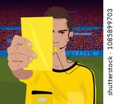 close up of soccer referee... | Shutterstock .eps vector #1085899703