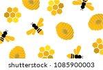 abstract bee hive honeycombs... | Shutterstock .eps vector #1085900003