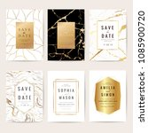 luxury wedding invitation cards ... | Shutterstock .eps vector #1085900720