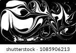 black and white liquid texture. ... | Shutterstock .eps vector #1085906213