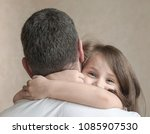 portrait of cute little girl... | Shutterstock . vector #1085907530