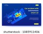 autonomous smart car concept... | Shutterstock .eps vector #1085911406
