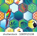 vector seamless pattern with... | Shutterstock .eps vector #1085915138