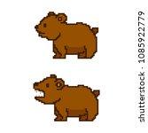pixel art bear. vector 8 bit... | Shutterstock .eps vector #1085922779