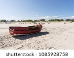 old wooden fishing boat at the... | Shutterstock . vector #1085928758