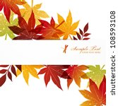 maple background | Shutterstock .eps vector #108593108