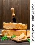 pieces of parmesan or...   Shutterstock . vector #1085934266