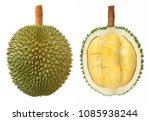 closeup of durian fruits... | Shutterstock . vector #1085938244