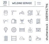 welding services flat line...   Shutterstock .eps vector #1085941796