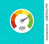 speedometer vector icon... | Shutterstock .eps vector #1085941799