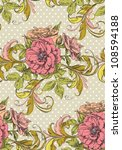 floral vintage seamless pattern | Shutterstock .eps vector #108594188