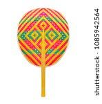 thai native fan made from... | Shutterstock . vector #1085942564