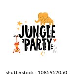 Jungle party free vector art 6384 free downloads jungle party sign with cute animals for childrens room decor prints for baby clothes stopboris Choice Image