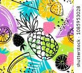 fashion tropics funny... | Shutterstock .eps vector #1085953028
