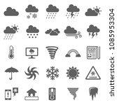 weather icon set vector. symbol ...