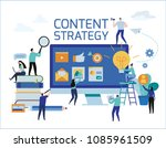 content strategy marketing... | Shutterstock .eps vector #1085961509