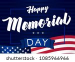memorial day usa 28 may and... | Shutterstock .eps vector #1085966966