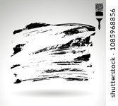 black brush stroke and texture. ... | Shutterstock .eps vector #1085968856