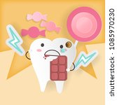 tooth with decay problem on the ...   Shutterstock .eps vector #1085970230