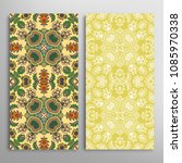 vertical seamless patterns set  ... | Shutterstock .eps vector #1085970338