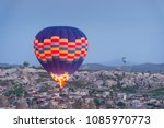 flyhot air balloons in sunrise  ... | Shutterstock . vector #1085970773