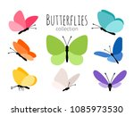 colored spring butterflies.... | Shutterstock .eps vector #1085973530