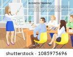 business training  poster text... | Shutterstock .eps vector #1085975696