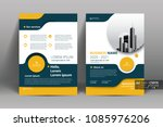 front and back cover of a... | Shutterstock .eps vector #1085976206