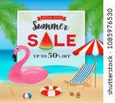 summer sale promotion banner...   Shutterstock .eps vector #1085976530
