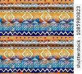 ethnic boho seamless pattern....   Shutterstock .eps vector #1085980823