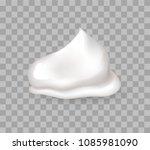 fresh whipped cream sweet... | Shutterstock .eps vector #1085981090