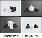 vector banner with isometric... | Shutterstock .eps vector #1085982893