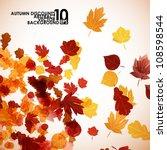 autumn background  eps10   Shutterstock .eps vector #108598544