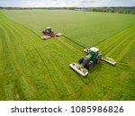 aerial view of two tractor... | Shutterstock . vector #1085986826