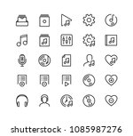 music player ui related icon... | Shutterstock .eps vector #1085987276