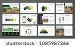 blue element for slide...   Shutterstock .eps vector #1085987366