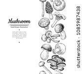 mushroom drawing vector...   Shutterstock .eps vector #1085987438