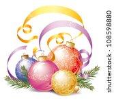christmas decorations ... | Shutterstock .eps vector #108598880
