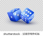dice blue vector design... | Shutterstock .eps vector #1085989436
