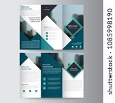blue triangle business trifold... | Shutterstock .eps vector #1085998190