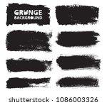 set of grunge banners.grunge... | Shutterstock .eps vector #1086003326