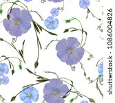 a delicate floral pattern with...   Shutterstock .eps vector #1086004826